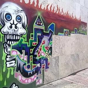 Limpieza de un graffiti
