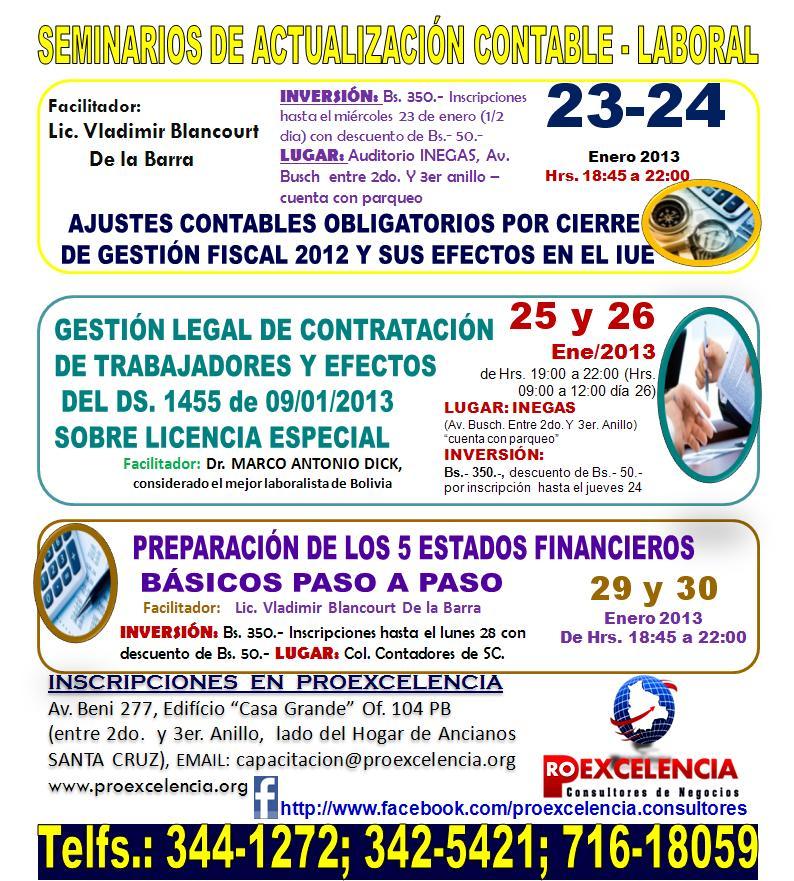 SEMINARIO DE ACTUALIZACION CONTABLE LABORAL