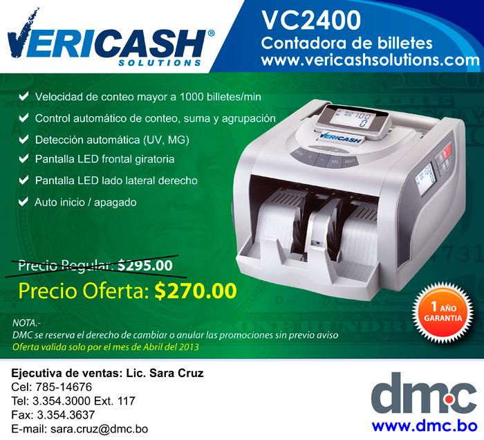 COTADORA DE                BILLETES VC2400